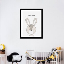 Cuadro en vinilo de conejo