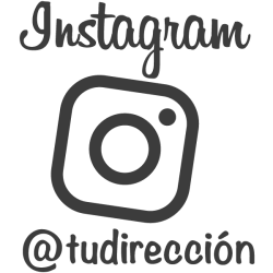 Vinilo decorativo Instagram