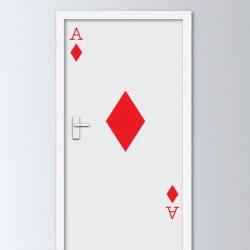 Vinilo puerta carta de oros