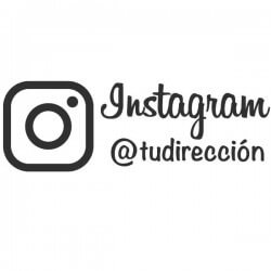 Vinilo para empresas Instagram