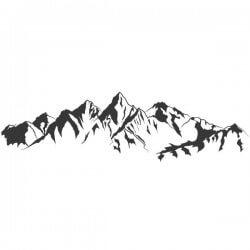 Adhesivo dibujo de una montaña