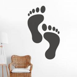Adhesivo decorativo pies