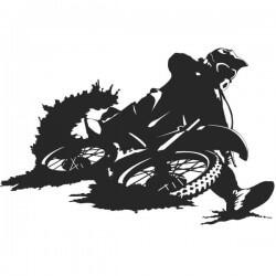 Vinilo de pared motocross