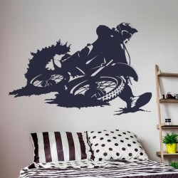 Vinilo de pared motocross