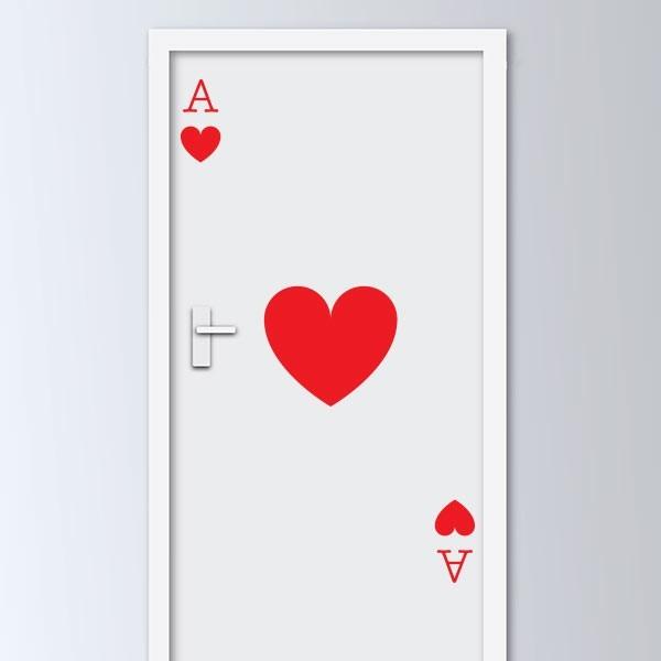Adhesivo puerta carta de corazones