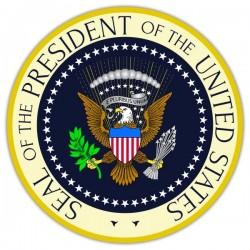 Vinilo sello Presidente de Los Estados Unidos
