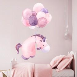 Vinilo infantil unicornio y...