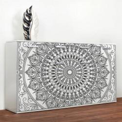 Vinilo mueble mandala en negro