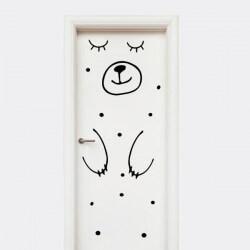Vinilo puerta infantil Oso...