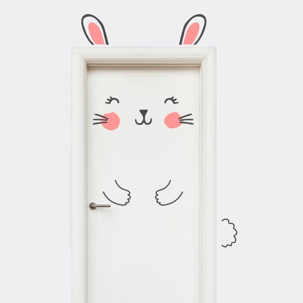 Vinilo puerta infantil de Conejo