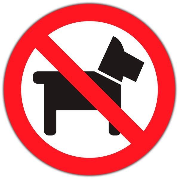 Vinilo prohibido perros