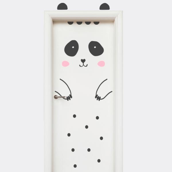 Vinilo puerta oso panda
