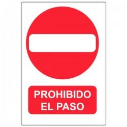 Vinilo prohibido el paso