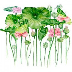 Vinilo de pared flores exóticas