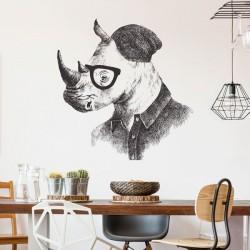 Vinilo rinoceronte con gafas