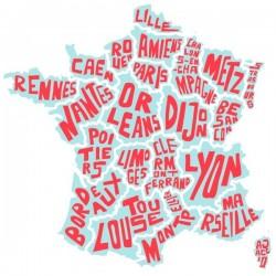 Vinilo mapa de Francia