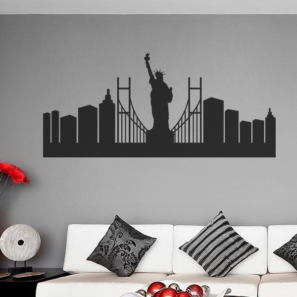 Vinilo skyline de Nueva York