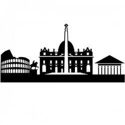 Adhesivo Skyline de Roma