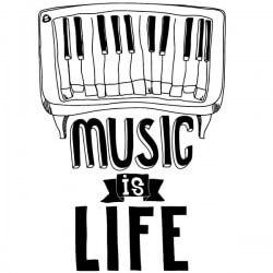 Vinilo frase music is life