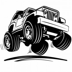 Pegatina vehículo todo terreno