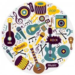 Adhesivo instrumentos musicales