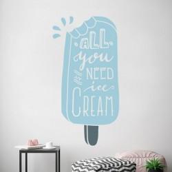 Adhesivo decorativo helado