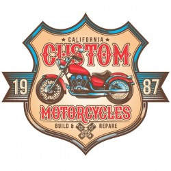 Vinilo de motos California custom
