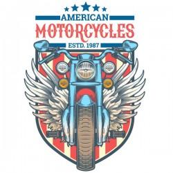 Adhesivo decorativo moto de América