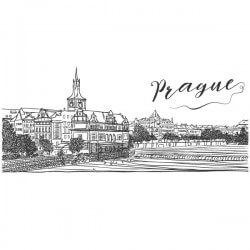 Vinilo dibujo de Praga