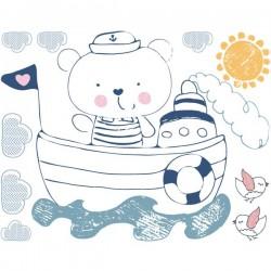 Adhesivo infantil osito marinero
