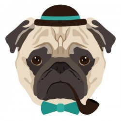 Vinilo decorativo perro fumador