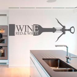 Adhesivo botella de vino