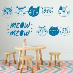 Vinilo infantil de gatitos