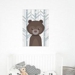 Vinilo infantil oso en el...