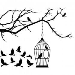 Decorativo árboles con aves
