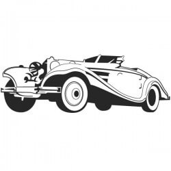 Vinilo de coche vintage