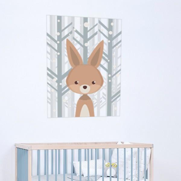 Cuadro Adhesivo bebé conejo