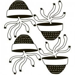 Vinilo macetas con cactus
