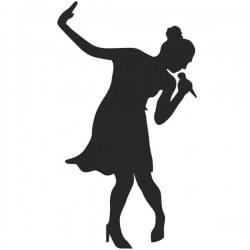 Vinilo de mujer cantando