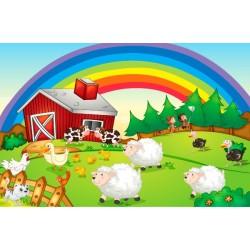 Fotomural animales de la granja