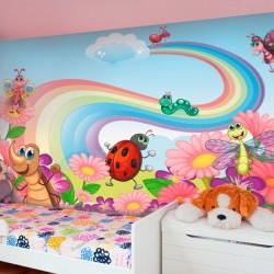 Mural de pared animales en...