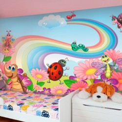 Mural de pared animales en...