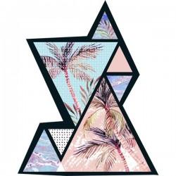 Sticker de palmeras vintage