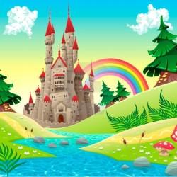 Fotomural primavera en el castillo