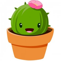 Pegatina de cactus infantil