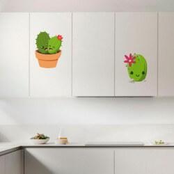 Vinilo de cactus infantiles