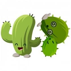 Vinilo de cactus felices 1