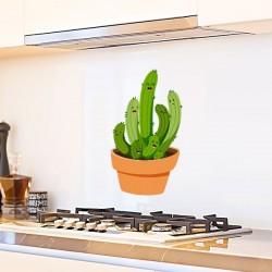 Adhesivo de cactus felices