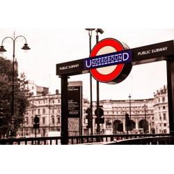 Mural en vinilo metro de Londres