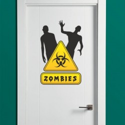 Adhesivo de pared zombies